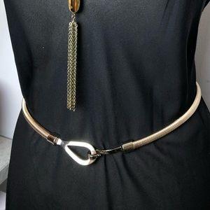 Michael Kors gold snake belt
